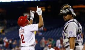 Ben Revere continued his consistency at the plate for the Phillies in 2015.