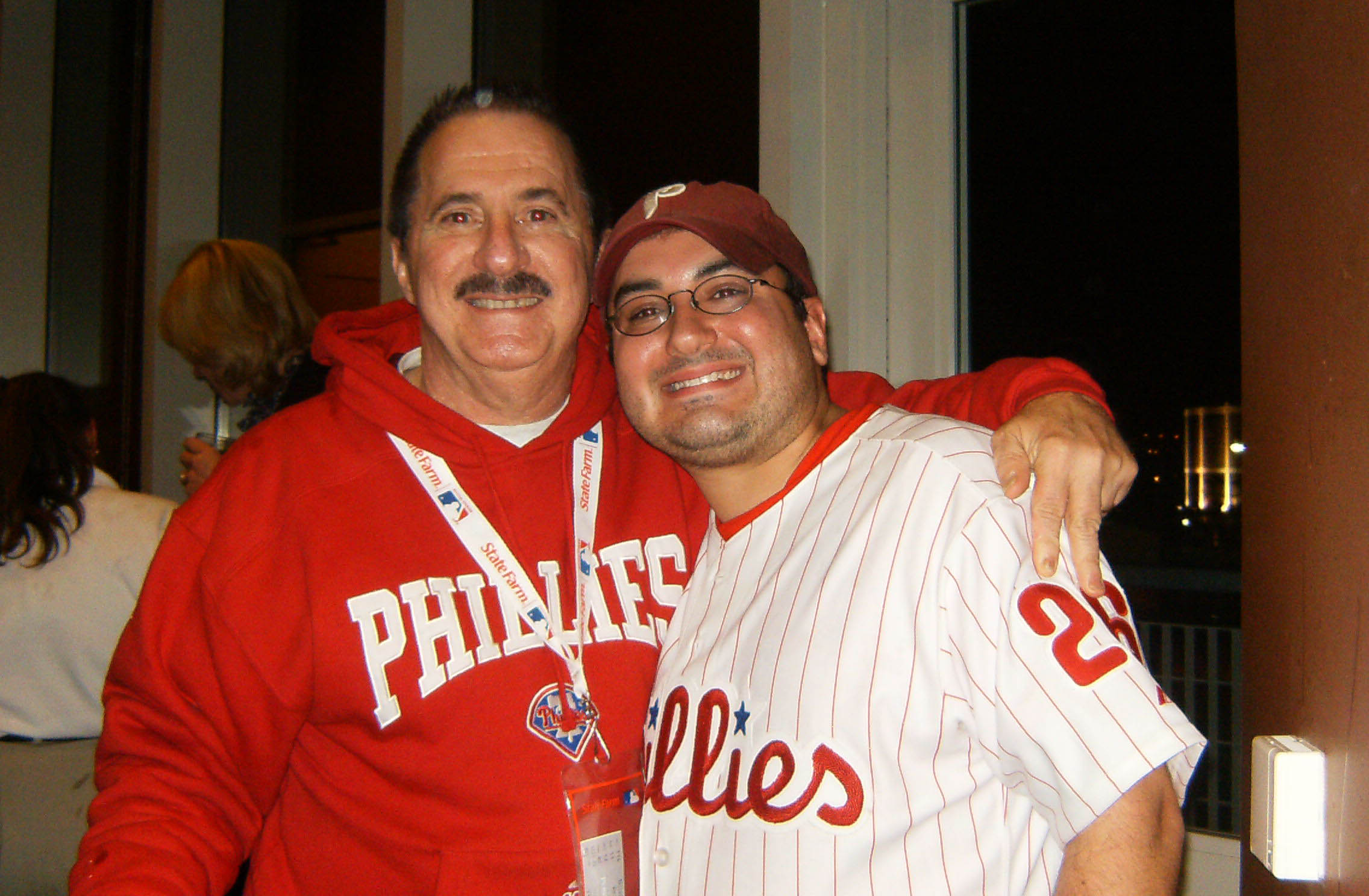 Me and Dad after the 2008 World Series